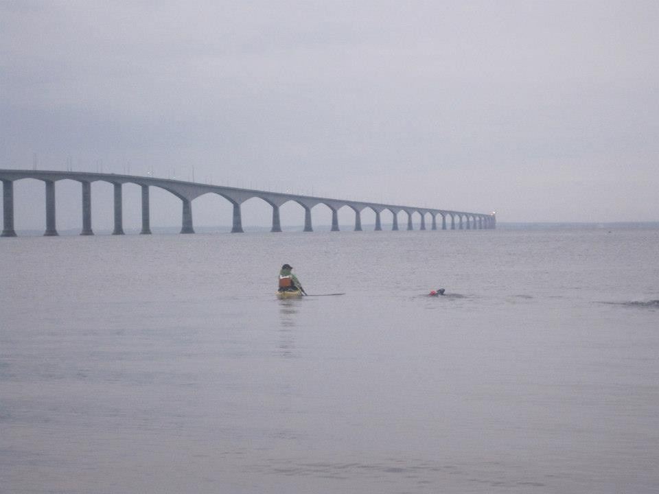 Big Swim - 2014 - Paddle from New Brunswick to PEI - Supporting swimmer, Emma Shaw