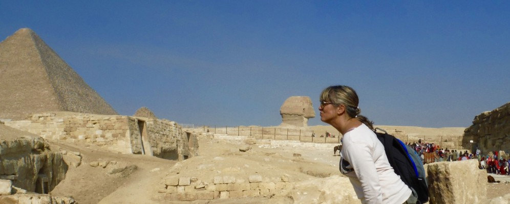 Kissing The Great Sphinx of Egypt!!