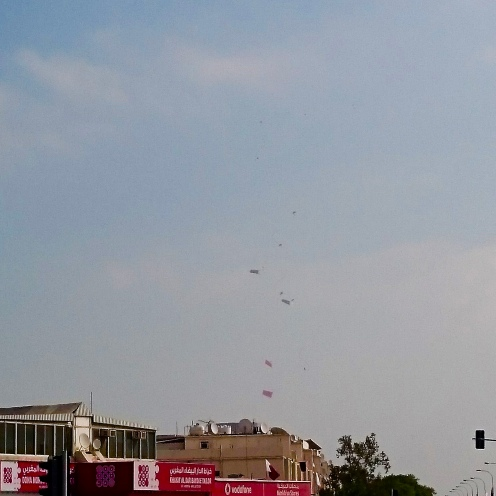 Parachuters with the Qatar Flag!!!