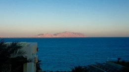 Tiran Island - Just like the pyramids - Titan Island glowing a beautiful shade of pink with the setting sun.