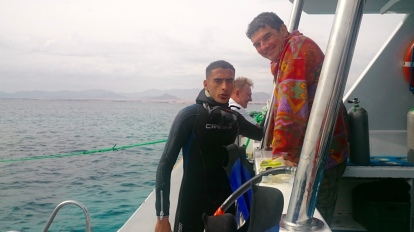 Our Scuba Guide, Hash!!