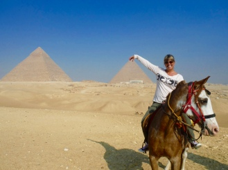 I'm pinching the top of the Great Pyramid - Khufu