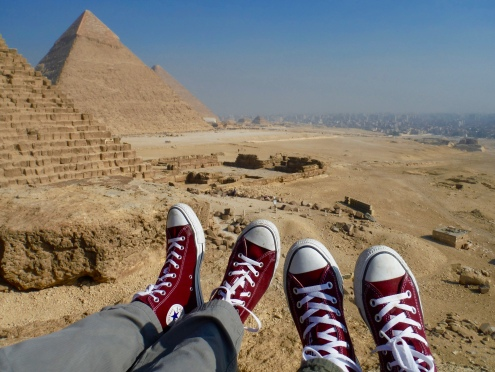 Converse Sneaker Love and the Giza Pyramids