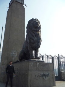 Lions at the Bridge