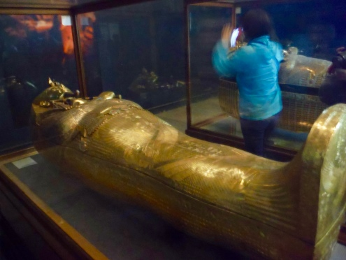 The Third Anthropoid Coffin that encased the body of King Tut