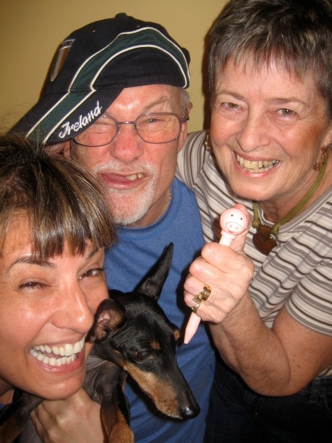 Fun with my parents and my little dog Marlow!!!