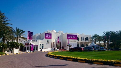 Arriving at the Doha Golf Club