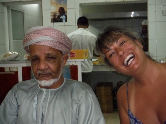 We stopped for coffee and this local Omani Elder welcomed us and bought us our coffee!!!