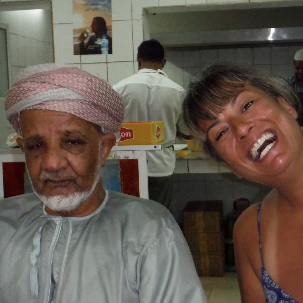We stopped for coffee and this local Omani man welcomed us and bought us our coffee!!!