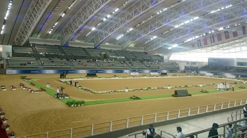 Indoor arena to the right!