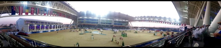 Panorama view of the outdoor arena.....