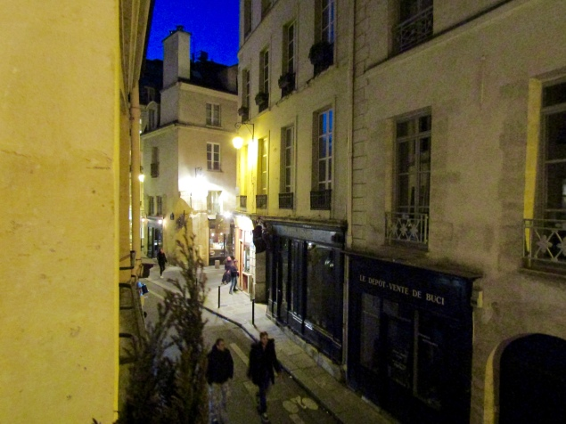 View from our apartment on Rue de Bourbon le Chateau