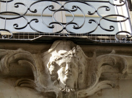Statue above the door.