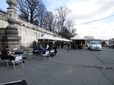 On the Right Bank of the Pont Alexandre III Bridge, a Flea Market along the Port des Champ Elyees.