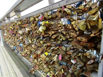 To discover we found a Love Lock Bridge!!!