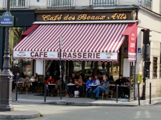 Our first restaurant located on Quai Malaquais.