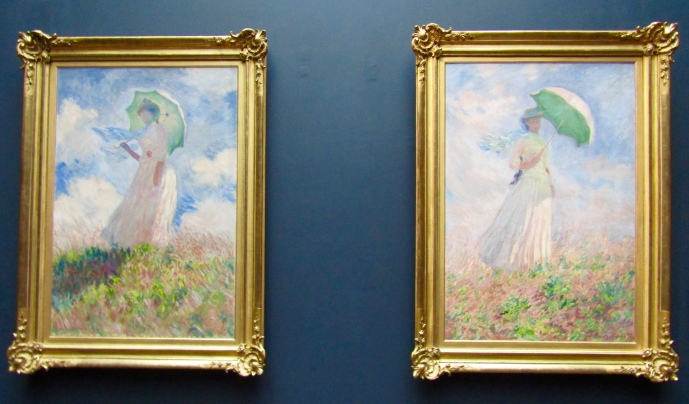 1886 - Claude Monet - Woman with a Parasol, Turned to the Left & Essai de figure en plein-air : Femme à l'ombrelle tournée vers la droite