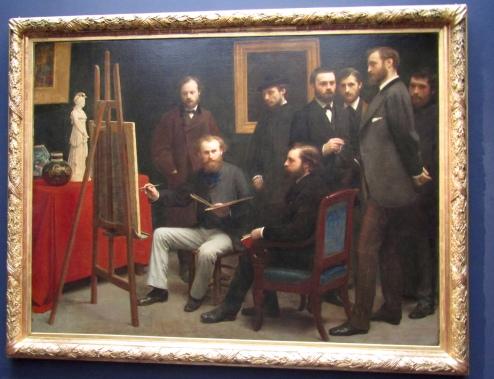 1870 - Henri Fantin-Latour - A Studio at Les Batignolles