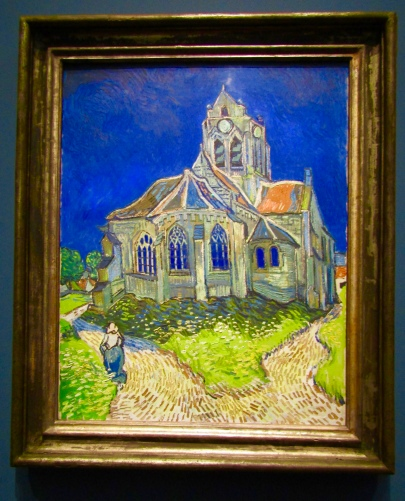 1890 -Van Gogh - The Church at Auvers