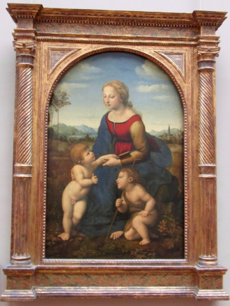 Raffaello Sanzio da Urbino also known as Raphael - Madonna and Child with Saint John the Baptist - 1507