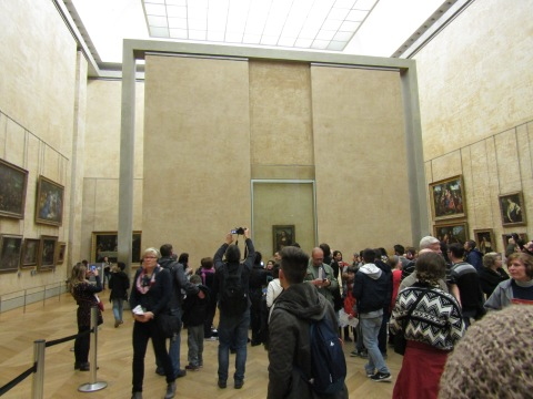 My very first look at the Mona Lisa!!