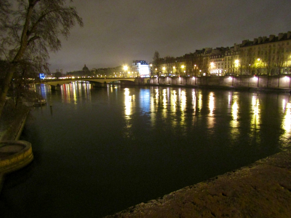 Walking home across the Seine!