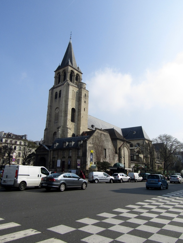 The Abby behind our street that Saint-Germain-des-Prés is located around.