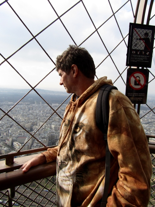Top/outside of the Eiffel Tower