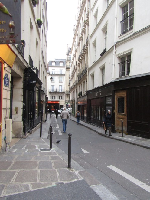 The street we stayed on....Rue de Bourbon Le Chateau.