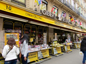 Or browse a book store that was started by bookshop owners in 1886!!! Gibert Jeune is a Parisian bookshop founded in 1886 by Joseph Gibert, Quai Saint-Michel .