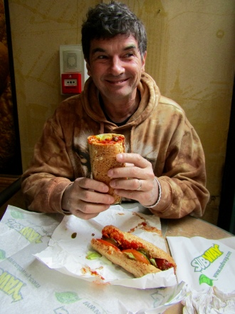 Michael craves a meatball sub!!!