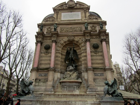 The Saint-Michel monumental fountain