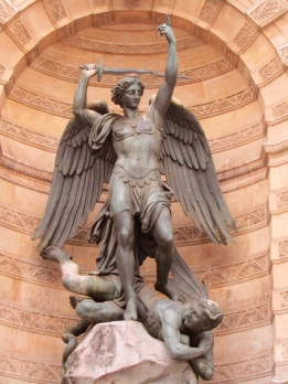 Archangel Michael defeating the devil.