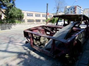 Abandoned car.