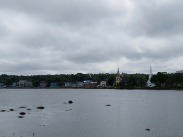 The Three Churches of Mahone Bay, Nova Scotia - St James' Anglican; St John's Evangelical Lutheran; and Trinity United.