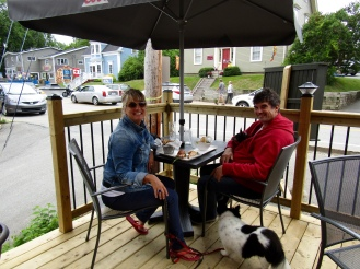 Happy Family at Oh My Cod!, Mahone Bay.