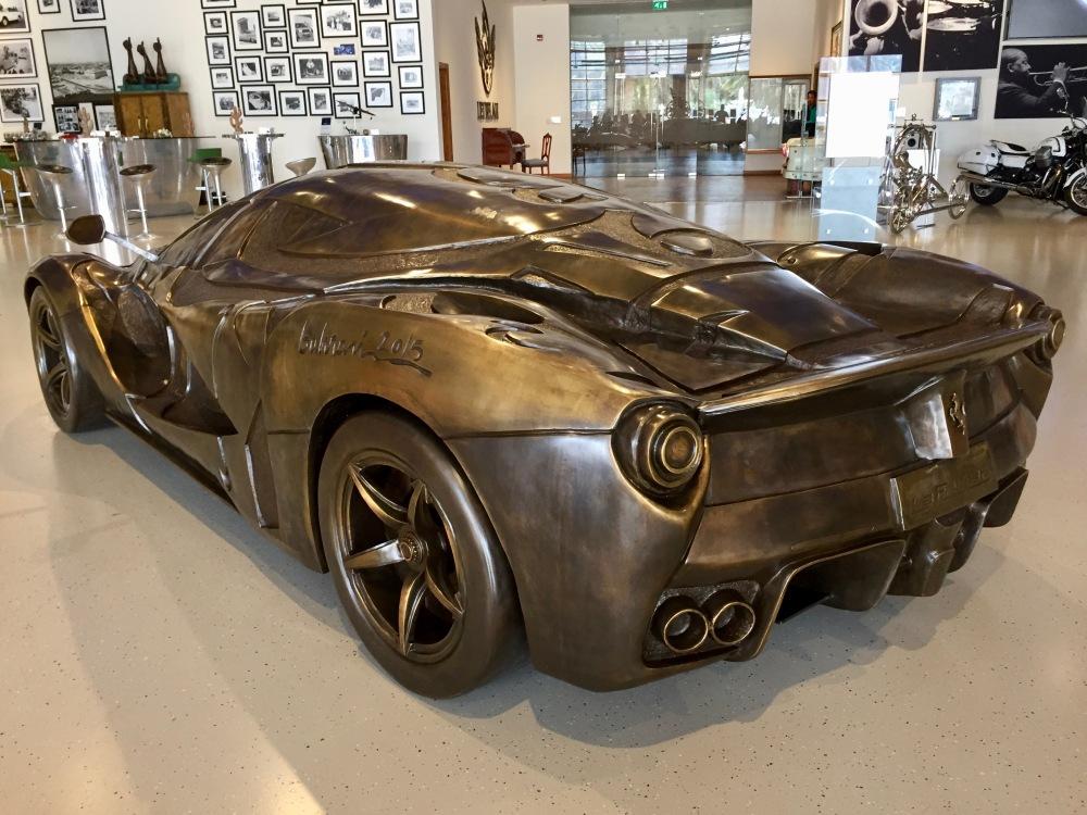 Al Khor, Qatar - Al-Fardan Private Luxury Car Collection - LaFerrari Bronze Sculpture by Doha-based Iraqi artist Ahmed al-Bahrani