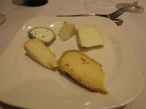Cheeses made locally. The goat cheese made by monks.