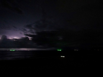 Lightening storm over Karon Beach