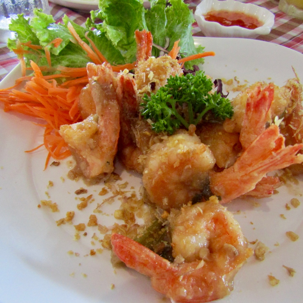 Pepper and Garlic Shrimp