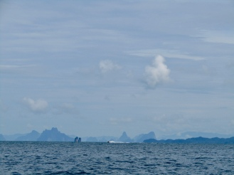 Islands in the distance.