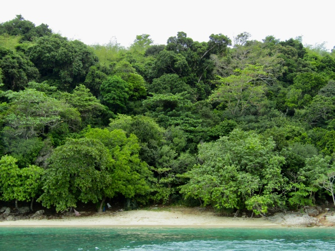 Small beach on Bamboo Island