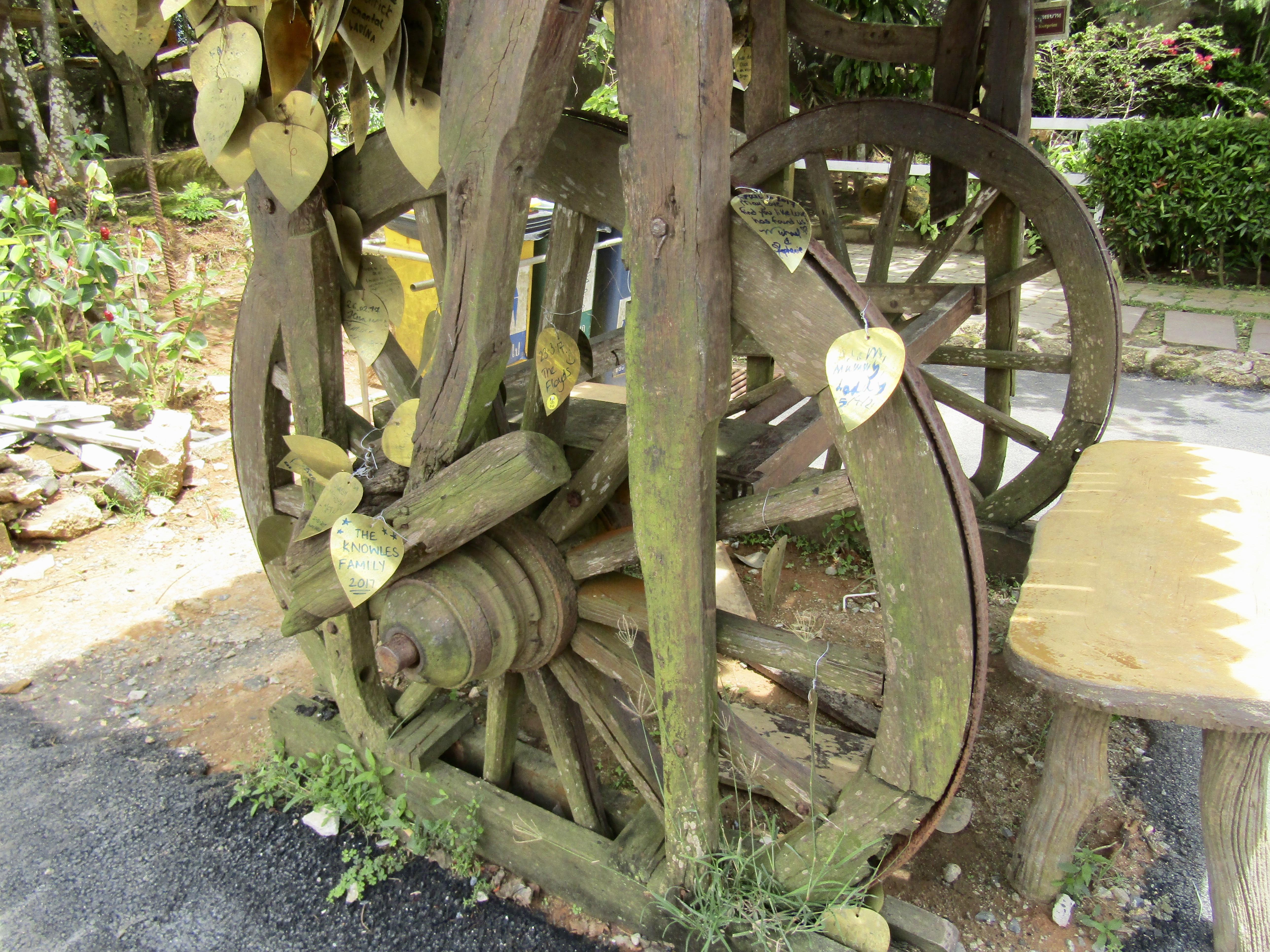 April 6th, 2017 - Phuket, Thailand - The Big Buddha - Gold Leaf on Wheel