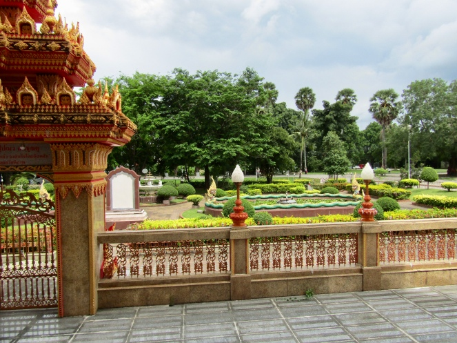 The gardens outside the temple.