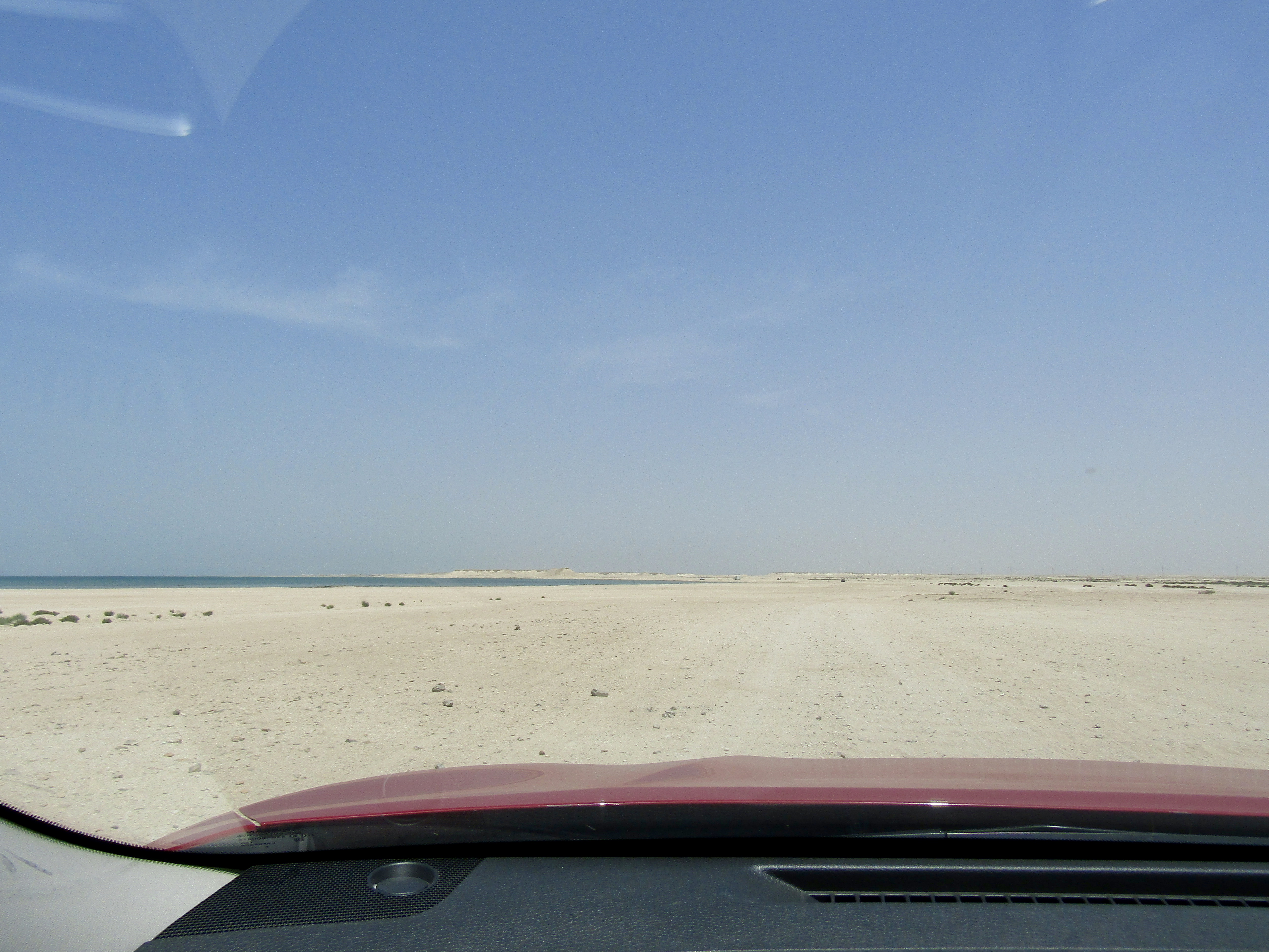 April, 2017 - Zekreet, Qatar - Driving to find Zekreet Beach