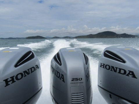 750 horsepower driving us through the Andaman Sea!
