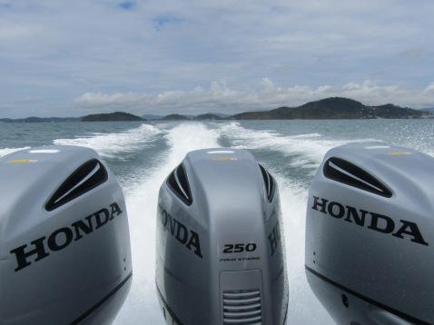 750 horsepower driving us through the Andaman Sea!