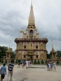 The 'Chedi' that houses a splinter of bone from Buddha