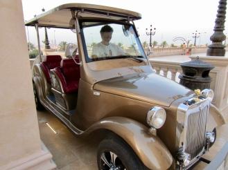 A Rolls Royce mall taxi.