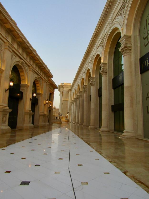 Walking towards the courtyard
